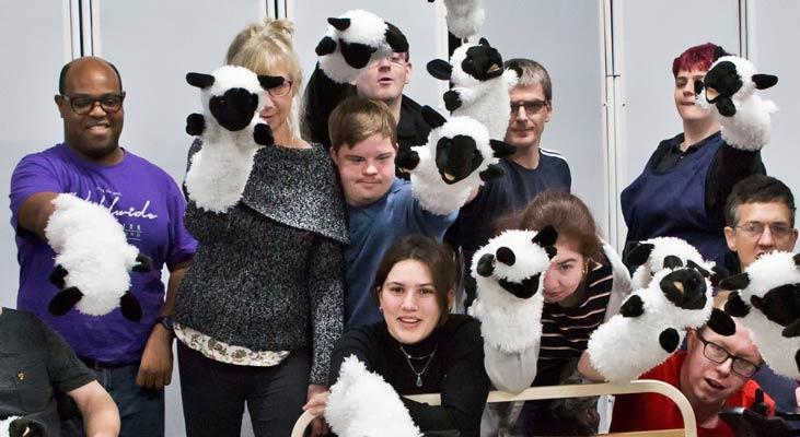 do not disturb sheep puppets